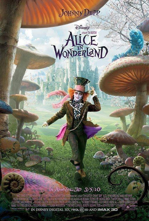 Depp plays the Mad Hatter, one of the many totally bizarre characters